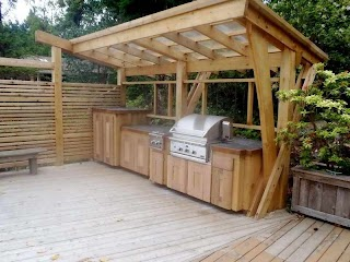 Building an Outdoor Kitchen with Wood Spaces in 2019 Pls