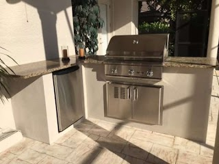 Outdoor Kitchen Stucco Finish S Hl Posey Builders Custom Builder