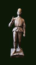 "Statueta veche  din fonta ""Minerul"""