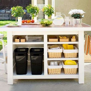 Outdoor Kitchen Storage Ideas Pretty Patios Porches and Pergolas