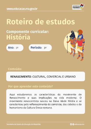 AS FACES DO RENASCIMENTO: CULTURAL,COMERCIAL E URBANO