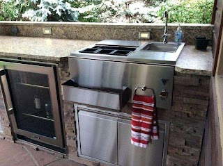 Outdoor Kitchen Sink Drain with Grill Rv