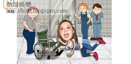 馮盈盈被目擊醉到「攤屍」於大堂,要由輪椅送上樓。