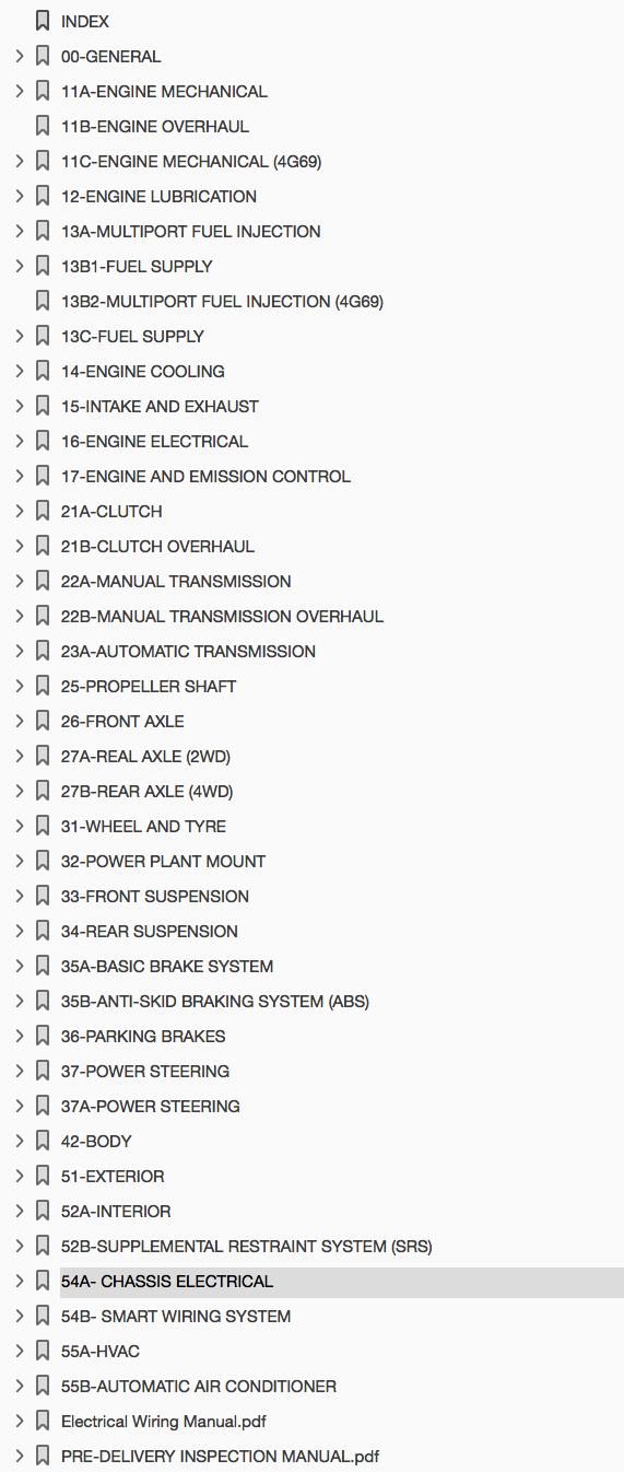 Download 2003-2006 Mitsubishi Outlander Repair Manual