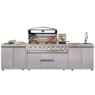 Bunnings Outdoor Kitchens Gasmate Platinum Iii Stainless Steel 6 Burner Bbq Kitchen