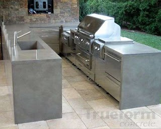 Concrete Countertops for Outdoor Kitchen The Countertop Truem Decor About