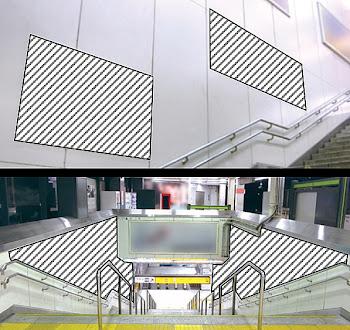 渋谷駅 「集中貼り+ハチ公口壁面 オールラッピング」