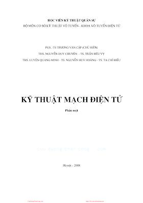 HVQS.Kỹ Thuật Mạch Điện Tử Phần 1 - Pgs.Ts.Trương Văn Cập, 409 Trang.pdf