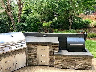 Outdoor Kitchen Smoker Traeger in This By Sunset Living Llc