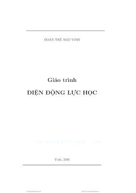 Giáo Trình Điện Động Lực Học - Đoàn Thế Ngô Vinh, 101 Trang.pdf