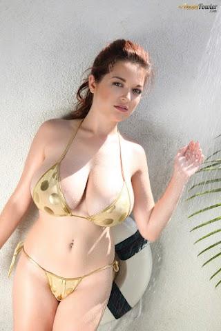 Gold Bikini Shower