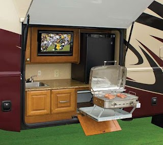 Camper with Outdoor Kitchen Take It Outside an Trailer Life