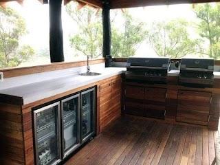 Outdoor Kitchen Wood Top 60 Best Ideas Chef Inspired Backyard Designs