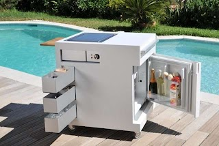 Compact Outdoor Kitchen Move a Mobile Unit