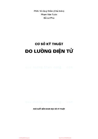 Cơ Sở Kỹ Thuật Đo Lường Điện Tử - Pgs.Ts.Vũ Quý Điềm, 473 Trang.pdf