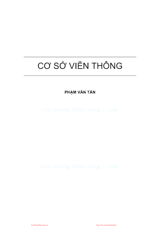 Cơ Sở Viễn Thông - Phạm Văn Tấn, 200 Trang.pdf