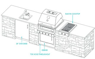 Standard Outdoor Kitchen Dimensions Designs The