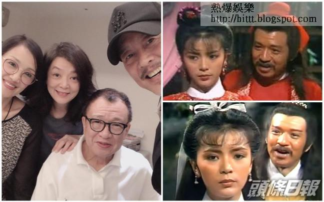 許紹雄難得跟陳玉蓮聚會,令網友聯想到兩人經典合作《神鵰俠侶》。