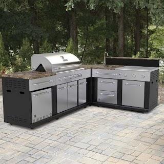 Prefab Outdoor Kitchen Island Modular Burner Gas Grill Features