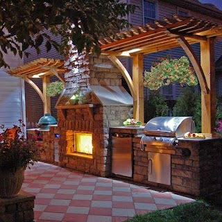 Outdoor Kitchen and Fireplace Designs 14 Inspiring S with Furniture Fashion