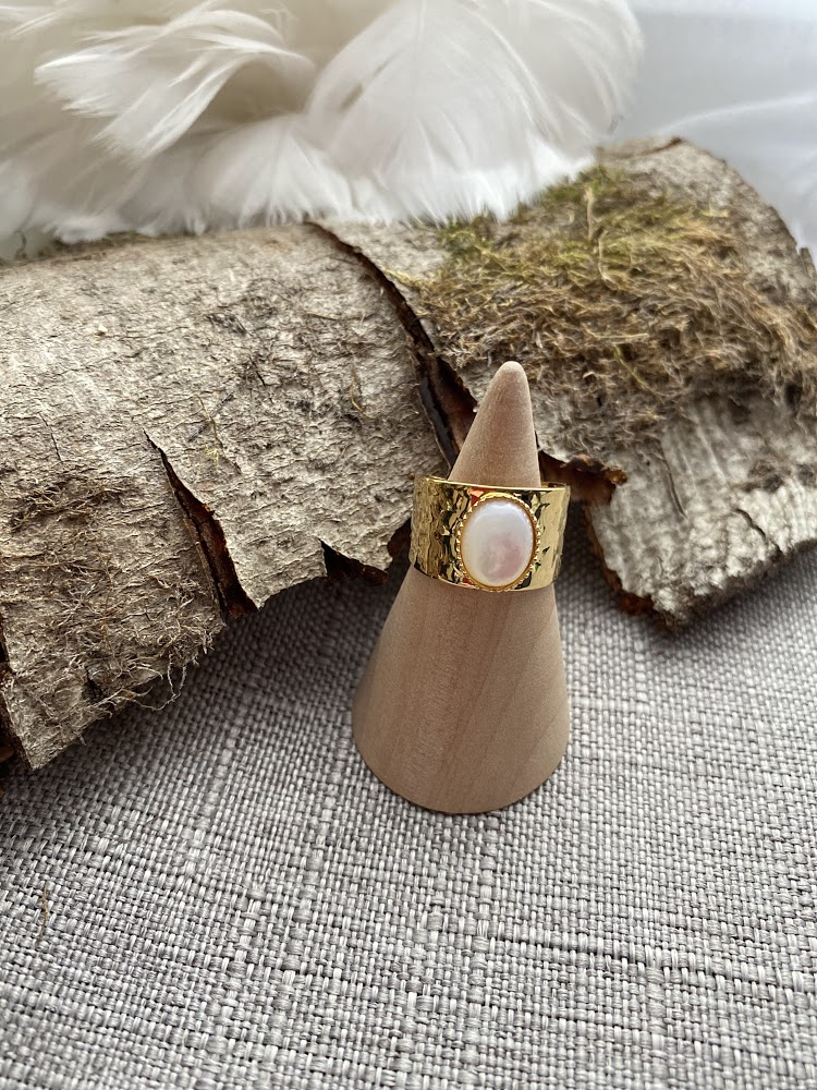 Bague large  Nacre Naturelle