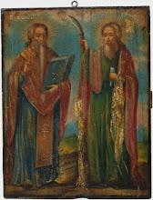 "Icoana ""Sfantul Haralambie si Sfantul Ilie"", sec al XIX-lea, Romania"