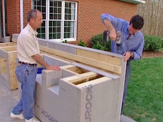Making an Outdoor Kitchen How to Build Holes Furniture Design