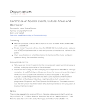 Committee on Special Events, Cultural Affairs and Recreation