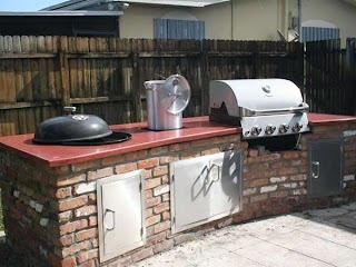 Weber Grill Outdoor Kitchen Concrete Project Gallery in 2019 Backyard Build