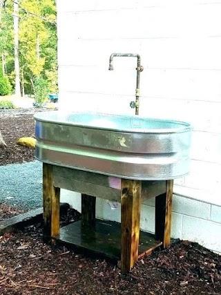 Outdoor Kitchen Sink Ideas Garden Hose Faucet Outside Faucet