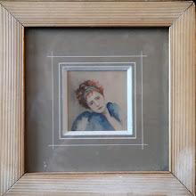 """Tablou miniatura """"Portret de fata"""""""