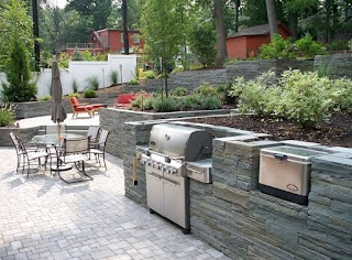 Stone Outdoor Kitchens Veneer for Landscaping Network