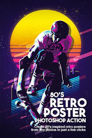80s retro poster