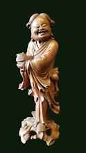Statueta  din lemn Buddha
