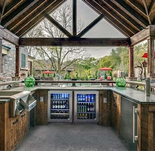 Outdoor Kitchen with Bar Top 60 Best Ideas Chef Inspired Backyard Designs