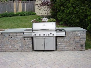 Drop in Grills for Outdoor Kitchens Built Pictures Built Grill Area
