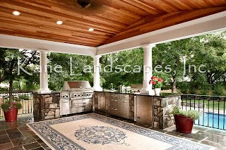 Outdoor Kitchen Pavilion and Contemporary Patio Dc Metro
