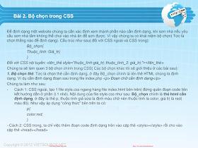 CSS- Bài 2 - Bộ chọn.pdf