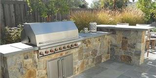 Stone Veneer for Outdoor Kitchen S Landscaping Network