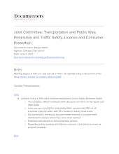 Joint Committee: Transportation and Public Way; Pedestrian and Traffic Safety; License and Consumer Protection