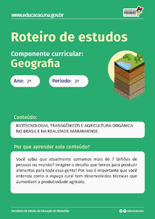 BIOTECNOLOGIA, TRANSGÊNICOS E AGRICULTURA ORGÂNICA NO BRASIL E NA REALIDADE MARANHENSE.
