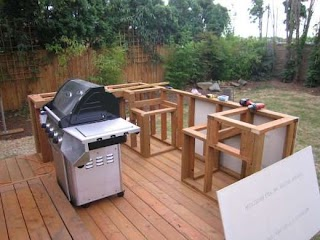 Building an Outdoor Kitchen with Wood How to Build D Bbq Isld Dengarden