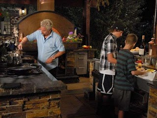 Guys Big Bite Outdoor Kitchen What to Watch a Weekend of Classic Recipes and Culinary Competition