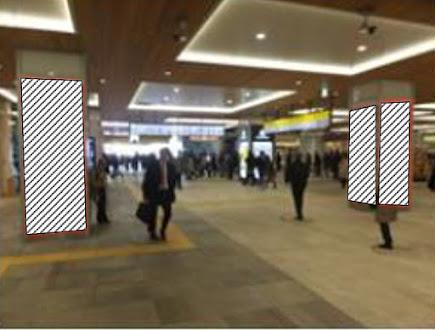 新宿駅新南口改札内柱シート
