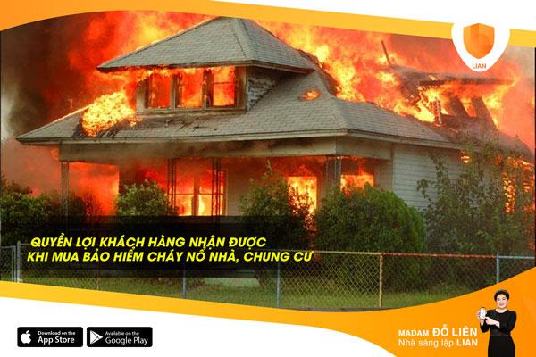 Những quyền lợi khách hàng nhận được khi mua sản phẩm Bảo hiểm cháy nổ nhà, chung cư