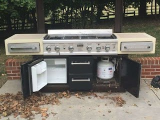 Charmglow Outdoor Kitchen Gourmet 95 in Luxury Island with Dual Fuel Gas Grill In
