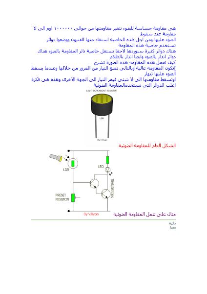 تحميل كتاب مكتبة نور - المقاومة الضوئية.pdf - أساسيات الإلكترونيات
