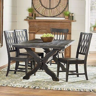 Primitive Outdoor Kitchen Magnolia Home By Joanna Gaines Rustic Trestle Table And