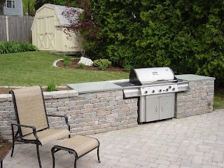 Outdoor Kitchen with Freestanding Grill Built in Free Standing Clarkelandscapescom