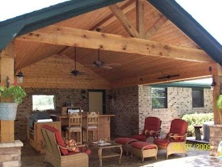 Covered Outdoor Kitchens and Patios Rustic Living
